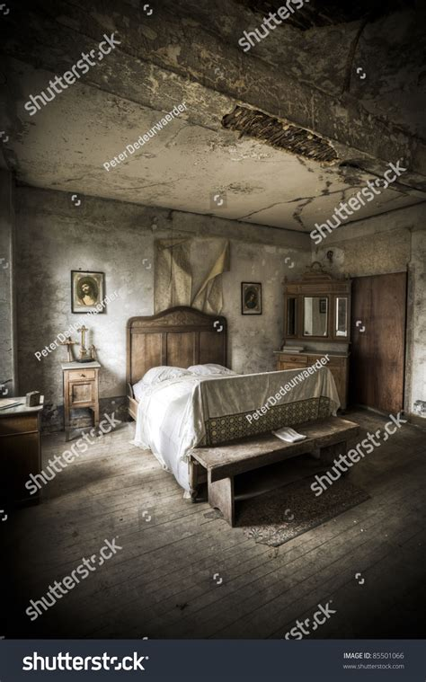 Creepy Bedroom by A Creepy Bedroom Scenery Cracked Walls And Wooden Floors