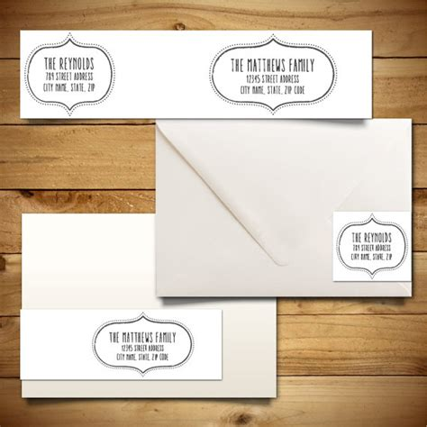 printable address labels wedding items similar to printable address label template for a7