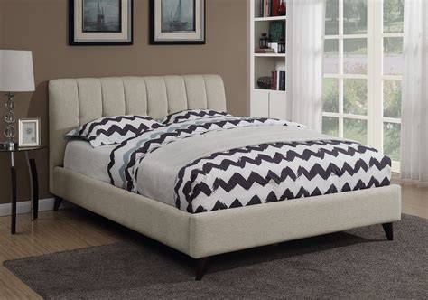 upholstered platform bed full portola oatmeal full upholstered platform bed from coaster coleman furniture