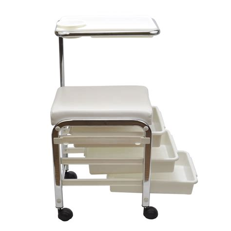 Nail Cart by White Pedicure Manicure Nail Salon Spa Cart Trolley Stool
