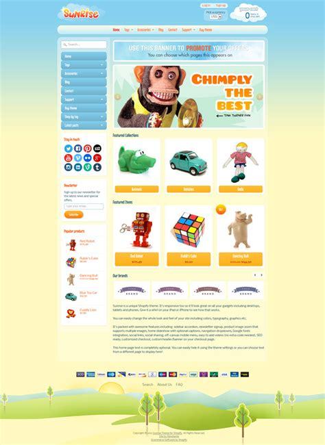 shopify themes kingdom 10 cute responsive shopify themes for kids