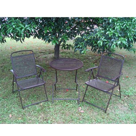 Outdoor Patio Table And Chairs Bistro Set Patio Set 3pc Table Chairs Outdoor Furniture Wrought Iron Cafe Set Ebay