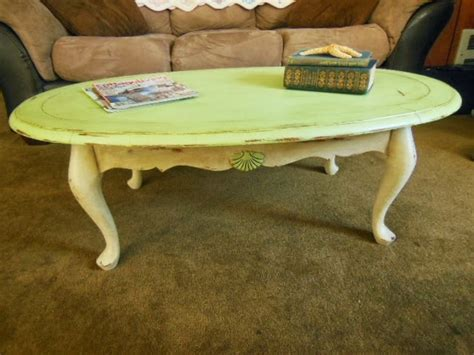 josie s attic oval coffee table redo in sloan