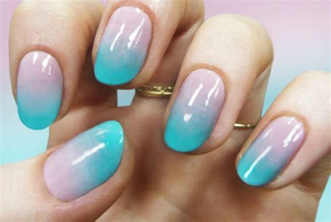 tutorial nail art ombre how to do ombre nail art designs for summer step by step