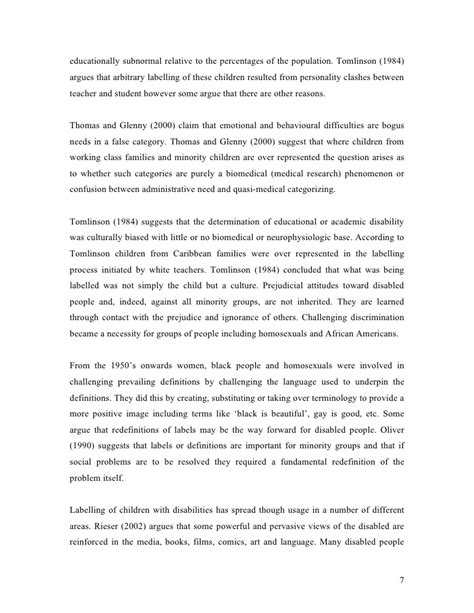 Disabilty Essays by Disability Essay