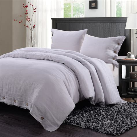 solid grey comforter 100 washed linen coconut wood deduction solid grey