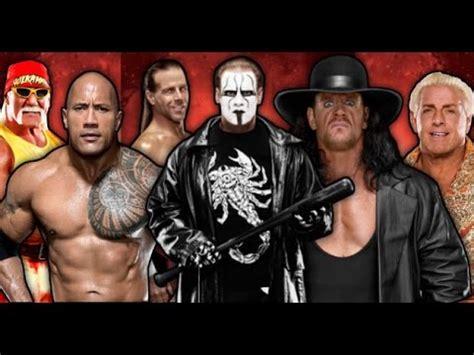 reverse wrestling wwf the rock the undertaker vs stone wwe undertaker vs sting vs the rock vs shawn michaels vs