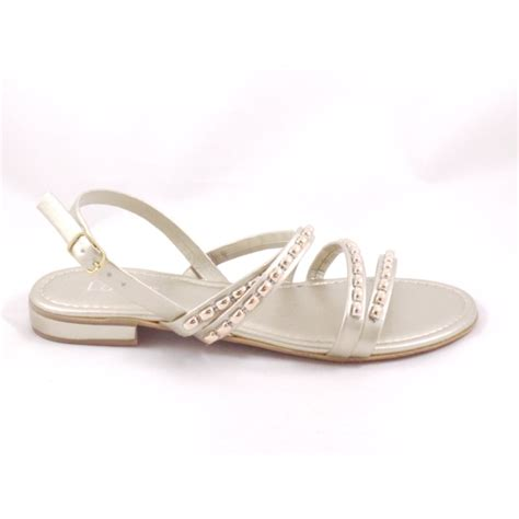 gold strappy flat sandals lotus gold open toe flat strappy sandals lotus from
