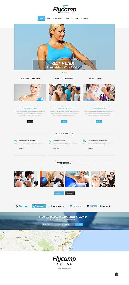 responsive website templates for yoga fitness responsive website template
