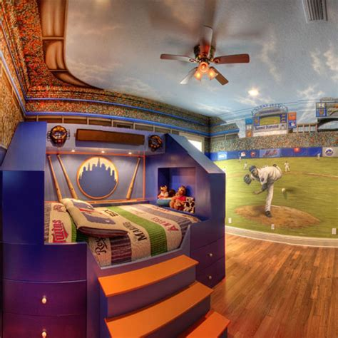 sports murals for bedrooms home run theme bed and mural and custom design services