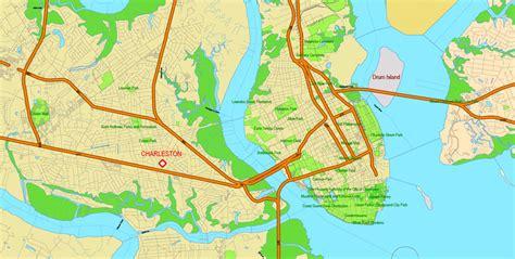 printable map of usc cus map south carolina printable vector detailed road