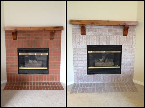 Before And After Brick Fireplace by Whitewashed Fireplace Before After Fireplaces