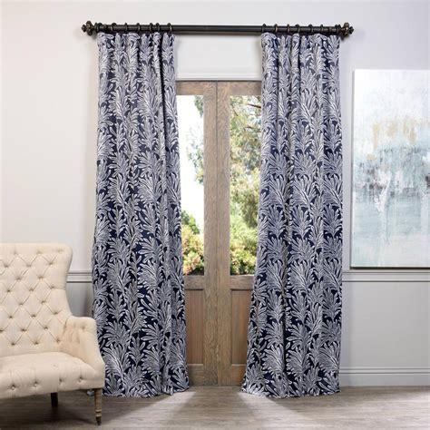 navy blackout drapes exclusive fabrics furnishings flora navy blackout