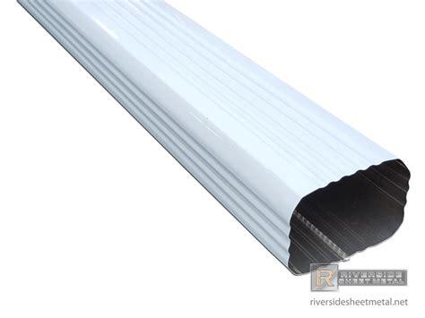 aluminum gutters corrugated aluminum gutter downspout 2 quot x 3 quot 3 quot x 4