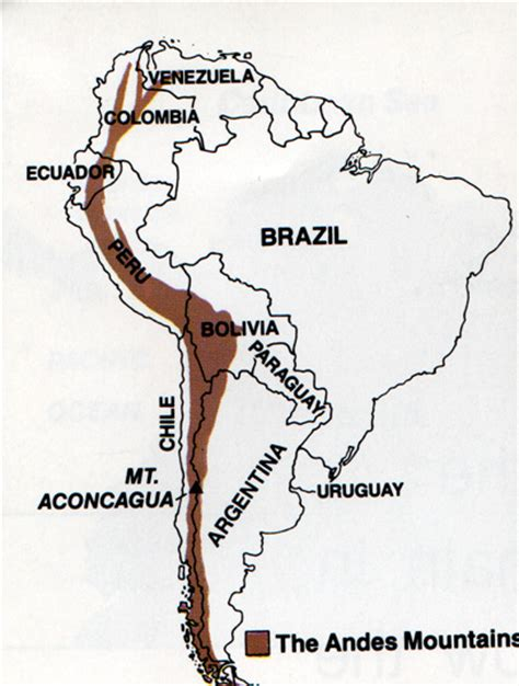 south america map andes yuxing wang america environmental features