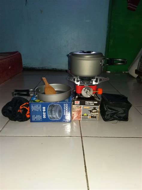 Cooking Set Ds 200 jual beli sale paket kompor portable cooking set