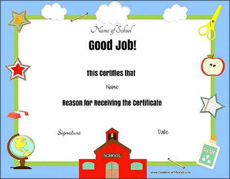 free educational certificate templates 10 certificates templates free sletemplatess