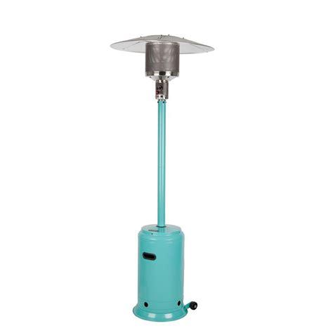 Fire Sense 46 000 Btu Aqua Blue Propane Gas Patio Heater Sense Gas Patio Heater