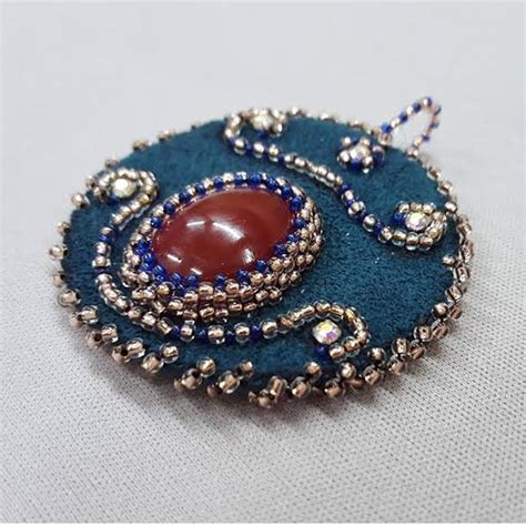 cabochon bead embroidery new class bead embroidery with cabochons beadology iowa