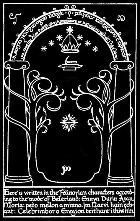 Durin's Door to Moria.. without the text at the bottom