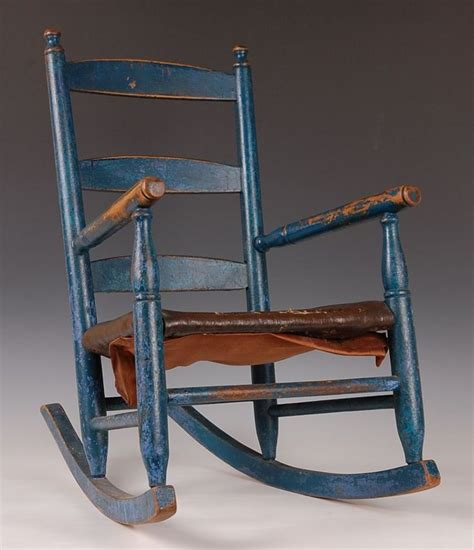 refinish wood rocking chair blue painted ladder back maple child s rocker maybe