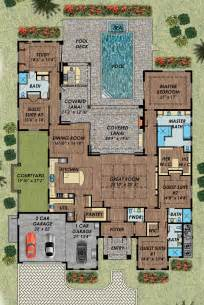 House Plans With Pool best 25 house plans with pool ideas on pinterest floor