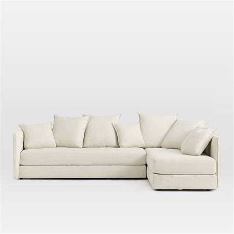 2 piece l shaped sectional serene 2 piece l shaped sectional west elm