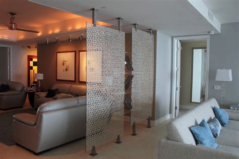 Room Divider Living Room room divider contemporary living room miami by fd