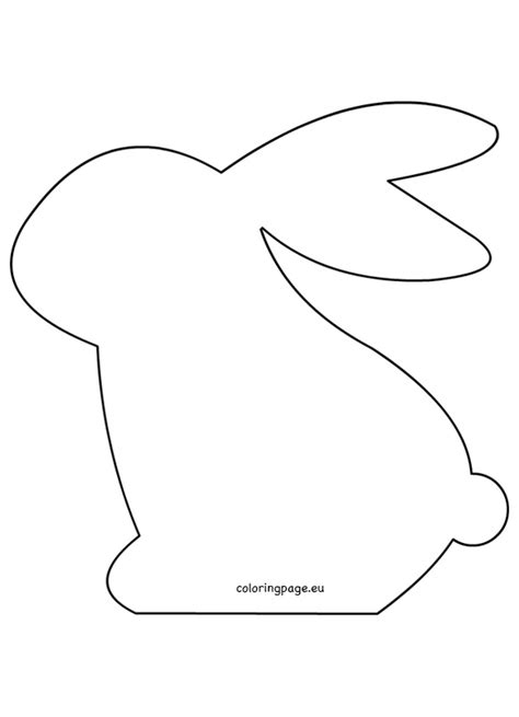 bunny template for sewing felt easter bunny pattern pinteres