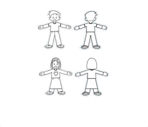 45 Flat Stanley Templates Free Download Creative Template Flat Stanley Template Blank