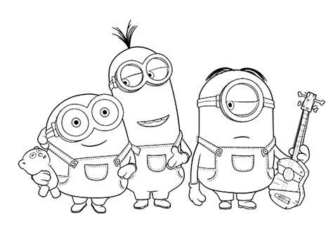 imagenes de navidad para colorear de los minions dibujo para colorear de personajes minions con m 250 sica
