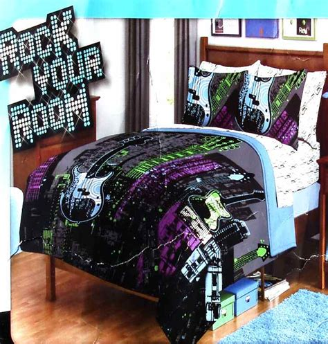 rock and roll bedroom new guitars rock and roll queen comforter sheets