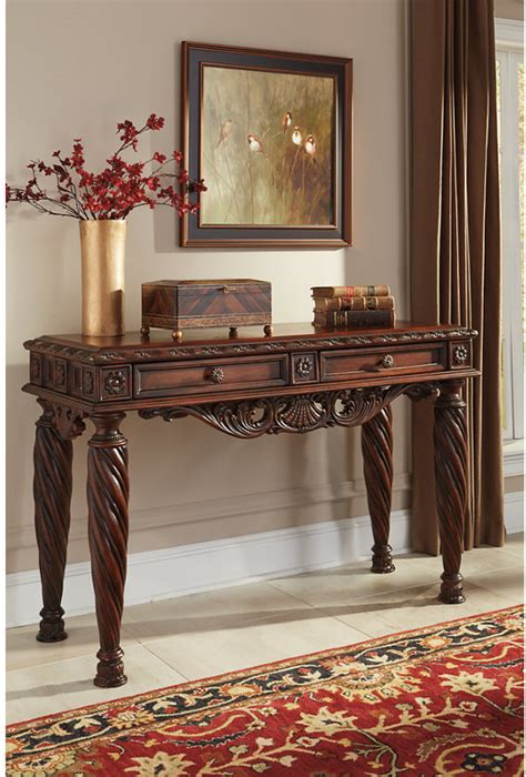north shore sofaconsole table  ashley furniture turners budget furniture