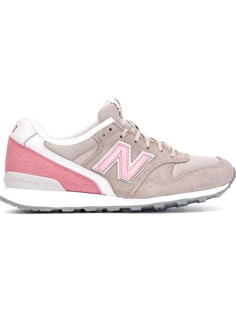 new balance grey sneakers new balance panelled logo sneakers in gray lyst