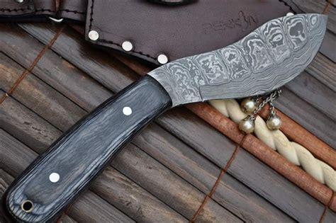 Handmade Bushcraft Knives Uk - damascus knife nessmuk knife sheath perkins