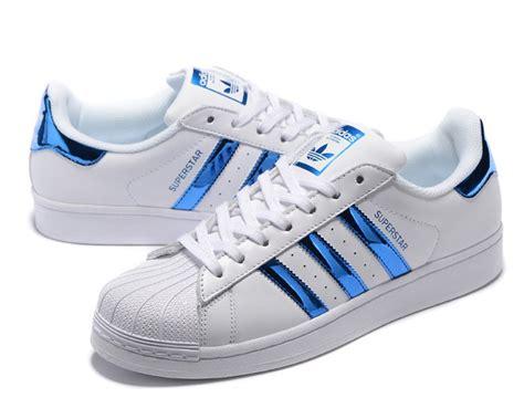 adidas originals superstar quot white blue quot aq2869 unisex casual shoes cheap price sneakers big sale