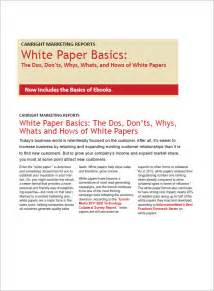 whitepaper template sle white paper template 12 free documents in pdf word