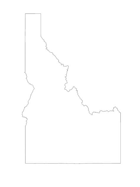 Idaho Map Template - 8 Free Templates in PDF, Word, Excel Download