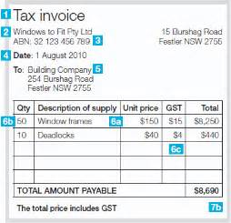 abn invoice template exle of tax invoice rabitah net