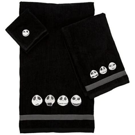 jack skellington towel set from our nightmare before