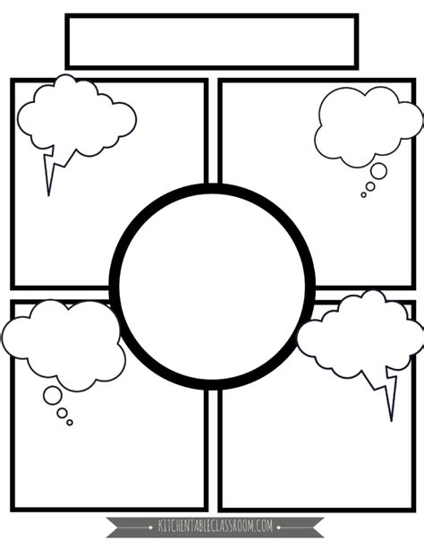 comic template for comic book templates free printable pages the kitchen