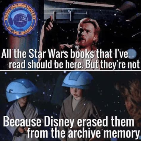 Star Wars Disney Meme - uadrond all the star wars books that l ve read should be