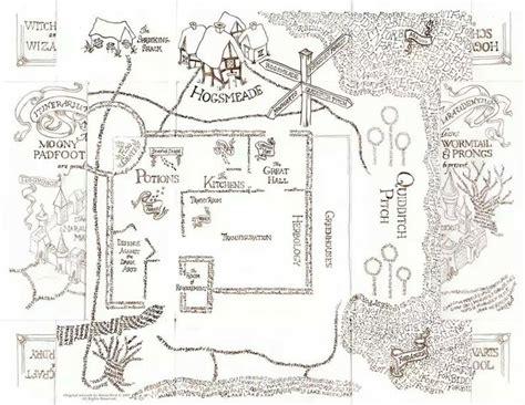 Marauders Map Coloring Page | 17 best hogwarts images on pinterest harry potter stuff