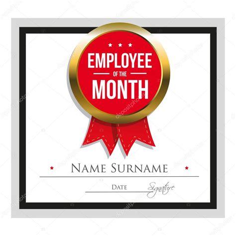 Word Vorlage Mitarbeiter Des Monats Mitarbeiter Des Monats Zertifikatvorlage Stockvektor 125671940