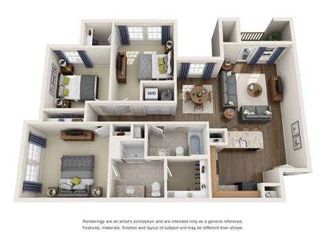 three bedroom floor plans three bedroom floor plan provision at four corners