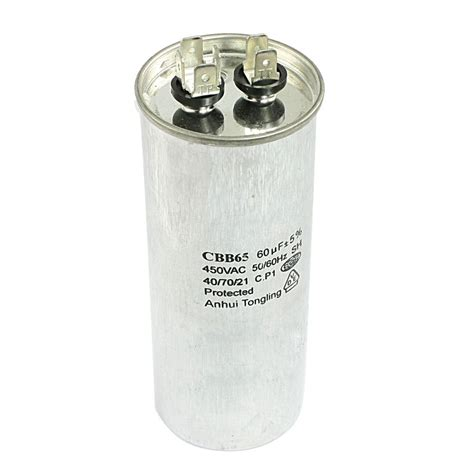 capacitor used in air conditioner cbb65 60uf ac 450v air conditioner compressor running capacitor ebay