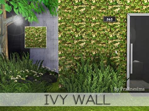 sims  ccs   ivy wall  pralinesims ivy wall
