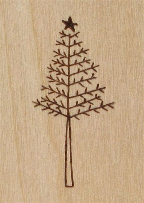 pattern for wood christmas tree christmas tree cards wood pyrography christmas by