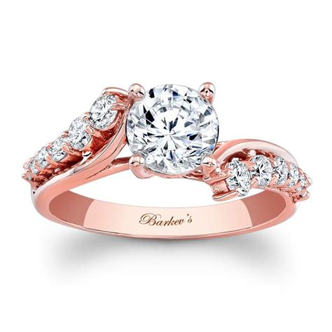 Barkev's Rose Gold Engagement Ring 7926LPW