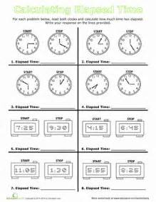 elapsed time worksheets new calendar template site